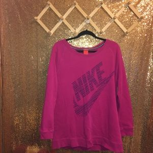 Magenta Nike Just Do It Long Sweater Sweatshirt
